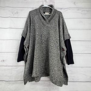 RD Style Slouchy Oversize Poncho Sweater